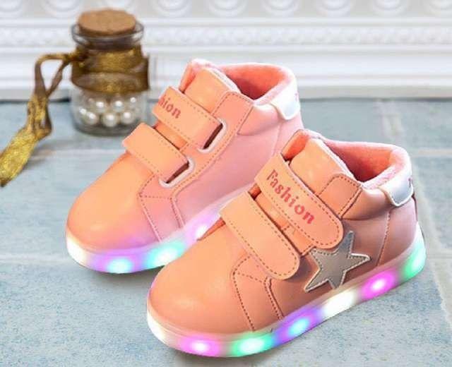 Sh074 Sepatu Anak Cewek Star Pink Size 26 27 28 29 30 Rp 97 000
