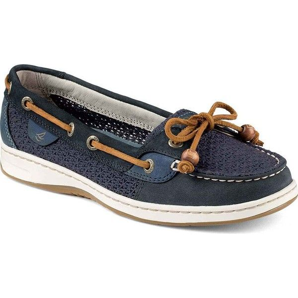 70f5164a790 Sperry Women s Angelfish Cotton Mesh Navy Performance Boating Shoes ( 88) ❤  liked on Polyvore featuring shoes