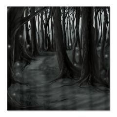 Dark Forest Path Shower Curtain > The Art of Caldoria : The Art of Caldoria