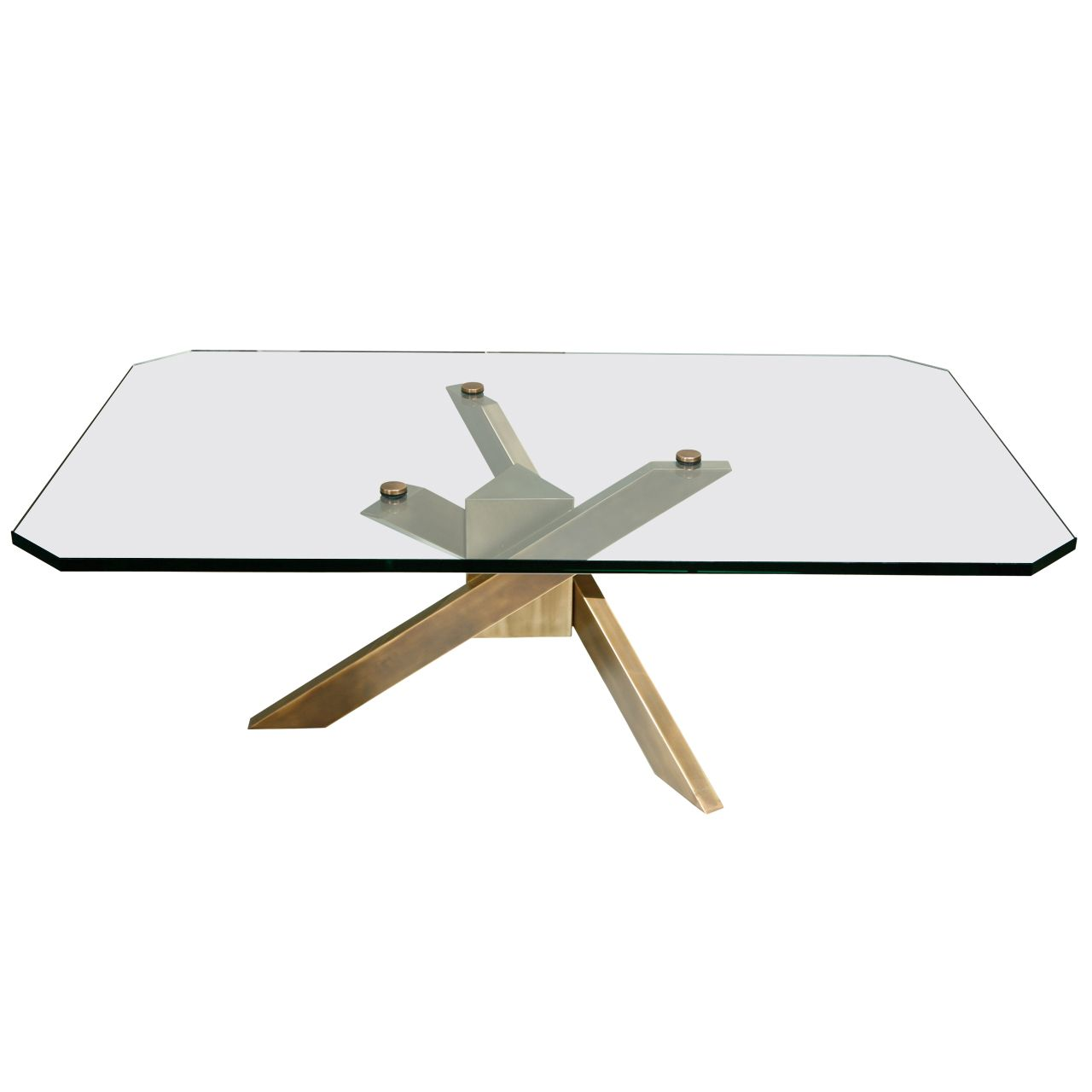Coffee Table With Architectural Base And Glass Top Glass Top Coffee Table Glass