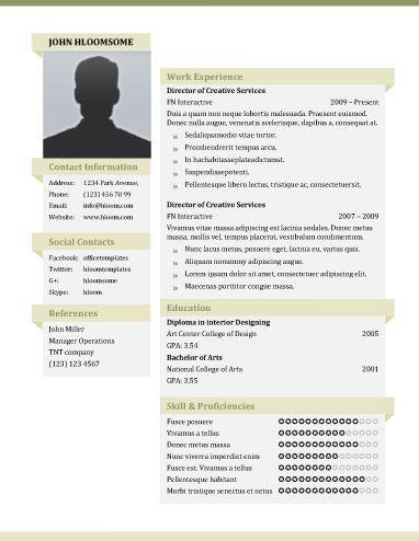 51 Creative Resume Templates Hloom Com Resume Template Free Creative Resume Templates Creative Resume