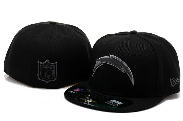 3e44dd782 San Diego Chargers Hats New Era NFL Pop Gray Basic 59FIFTY Cap Black   snapbacks  snapbackhats  hats  popular