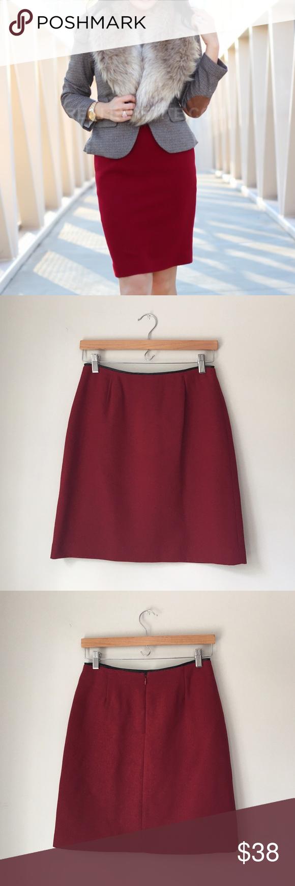 GAP Burgandy Red Pencil Skirt Stunning burgandy red pencil skirt by GAP. 50% polyester 50% rayon. Rear zip with hook and eye closure. Size 2. EUC. GAP Skirts Pencil