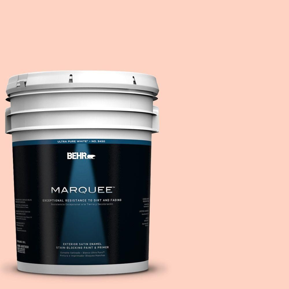 BEHR MARQUEE 5-gal. #210A-2 Coral Dune Satin Enamel Exterior Paint