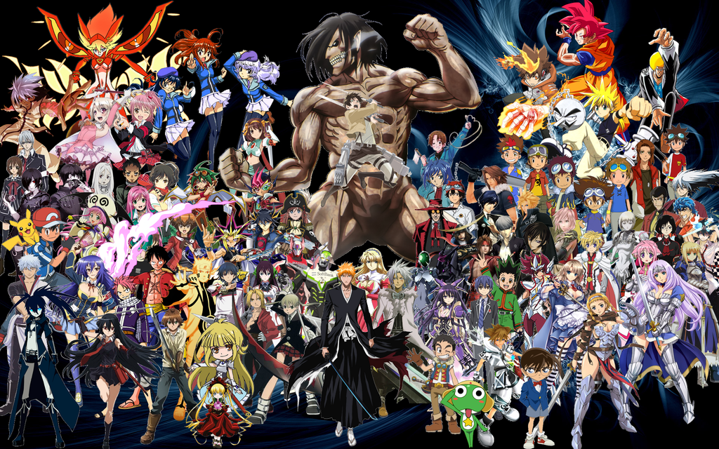 All The Anime Together All Anime Characters Anime Top 5 Anime