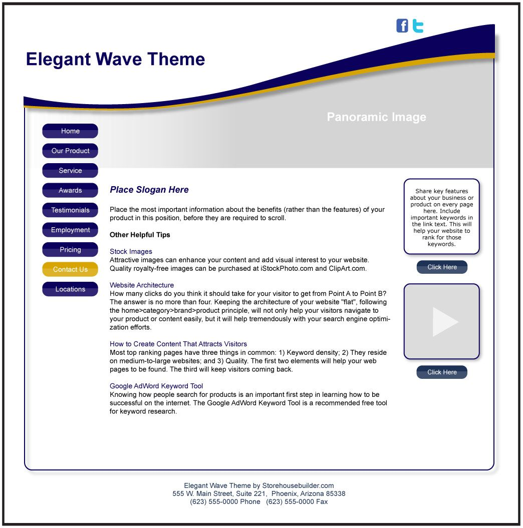 Php Website Templates Free Website Template With Tips For Success Bluegold Http