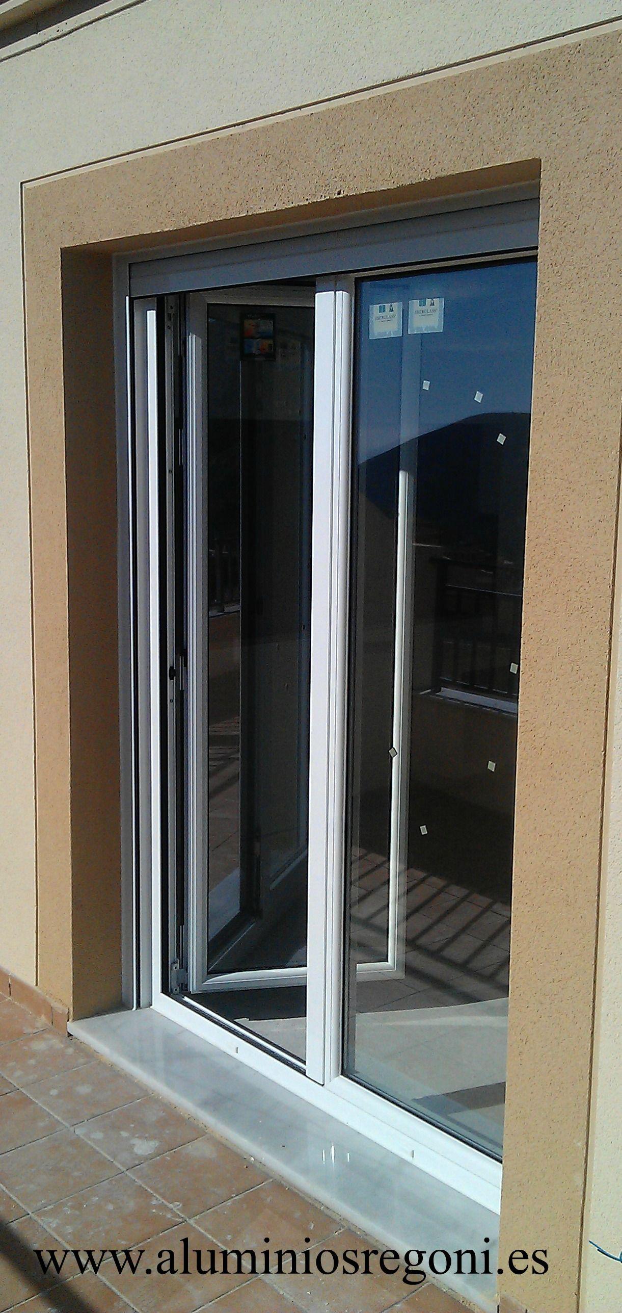 Ventana de aluminio con rotura de puente termico for Puerta ventana corrediza aluminio