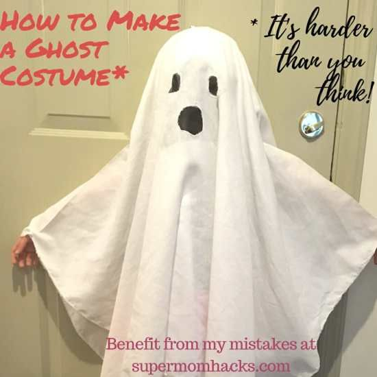 How To Make A Ghost Costume (It's Harder Than You'd Think!) #deguisementfantomeenfant