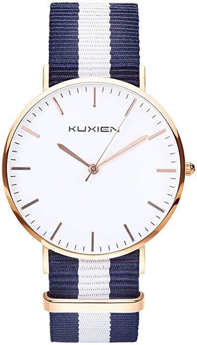 Damen Uhren, Damen Armbanduhren KUXIEN Ultra Dünne Unisex