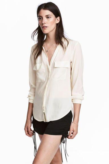 f59f936a6ea5c Blusa de crepé - Blanco natural - MUJER
