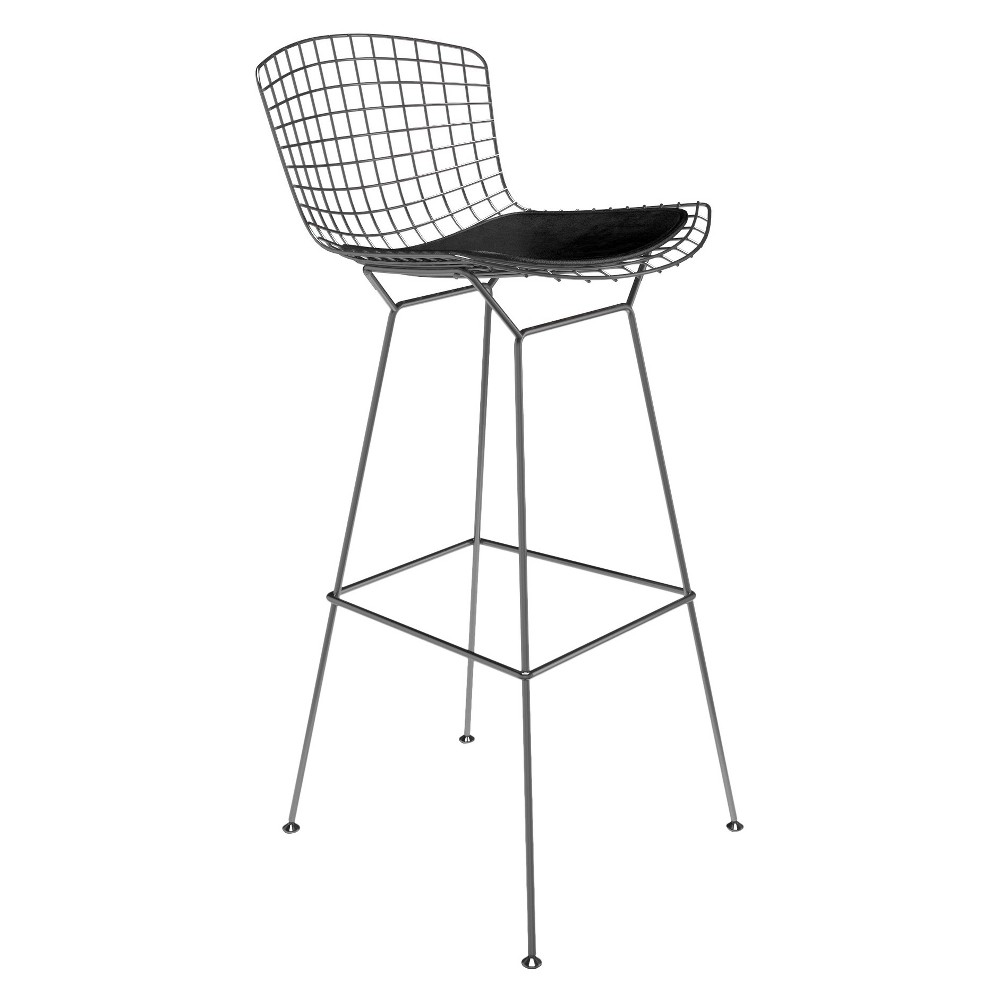 Super Counter And Bar Stools Aeon Black Stainless Steel Black Ncnpc Chair Design For Home Ncnpcorg
