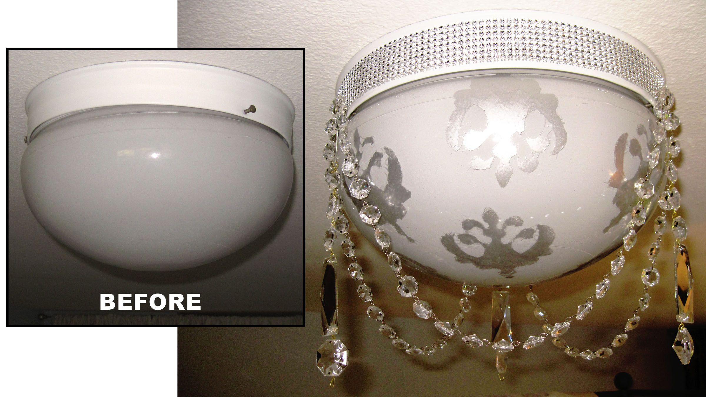 Ceiling light makeover beaded trim for votives round top and beads ceiling light fixtures ceiling lights diy lamps lamp shades cabbage ideas lighting ideas bedroom colours beaded trim globe arubaitofo Choice Image