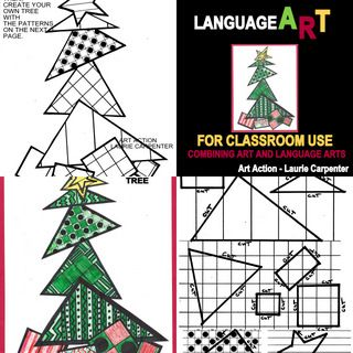 """Coloring Sheets for Christmas """"Free Tricky Triangle Tree ..."""