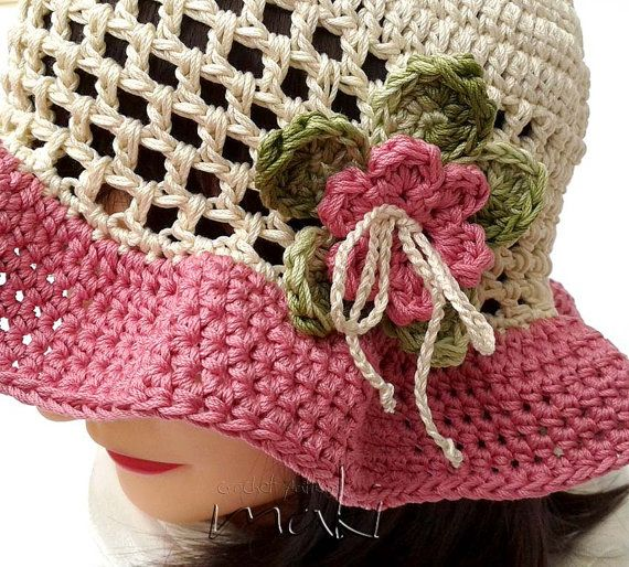 Crochet pattern - Lea summer hat! Toddler, child and adult size ...