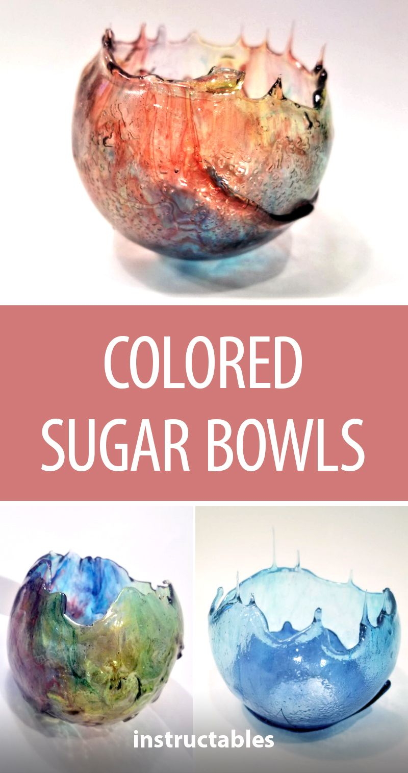 Colored Sugar Bowls is part of Chocolate bowls - Colored Sugar Bowls By looking at something that looks as amazing as these edible bowls, you might think that they require special tools, lots of practice and expensive materials  But they don't! Using a few household items you probably already have, these rain bowc