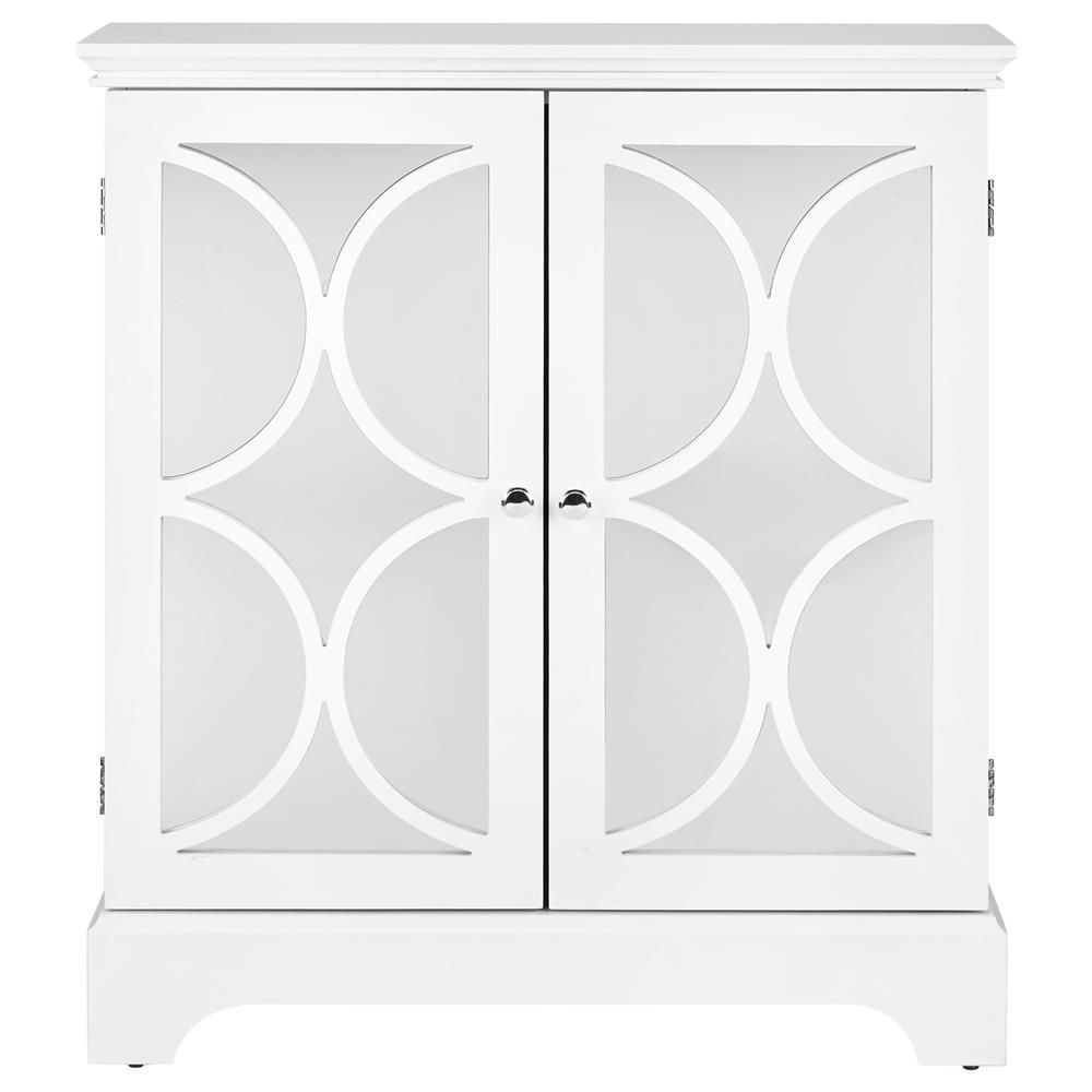 Geometric Cut Out Buffet With 2 Mirrored Doors Buffets Cabinets Dining Room