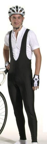 Men's Padded Stretch Fleece Bib Tights Large - http://ridingjerseys.com/mens-padded-stretch-fleece-bib-tights-large/