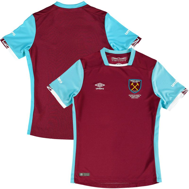 west ham united umbro youth 201617 home jersey maroon