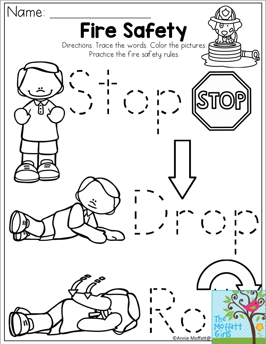 worksheet Fire Safety Worksheet stop drop and roll fire safety for the month of october prevention month
