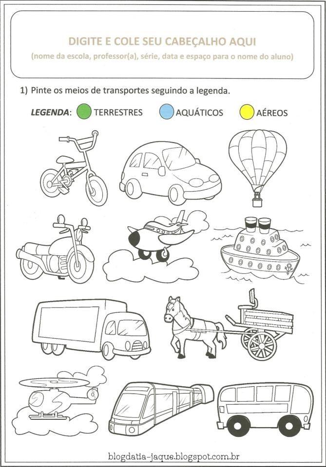 Atividades Prontas Meios De Transporte Atividades Meios De