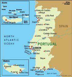 Portugalia Terkepe Madeira Azori Szigetek Portugalia