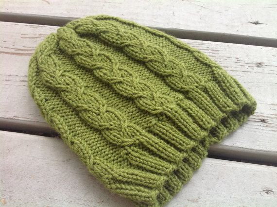 Cable Knit Hat Pattern- Pattern for Knitted Hats- Knitting ...