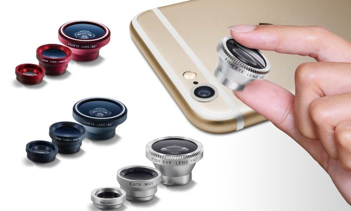 Camera Lens Kit for Apple: Aduro Camera Lens Kit for Apple iPhones (3-Piece)