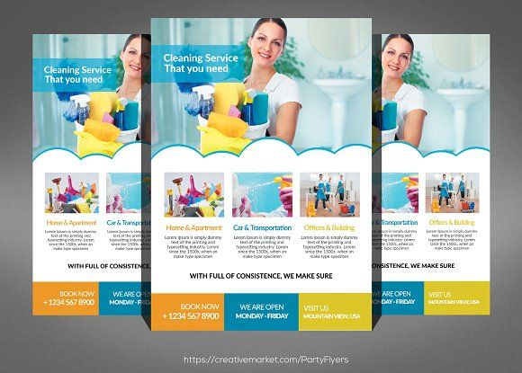 Cleaning Services Flyer by Party Flyers on @Graphicsauthor - cleaning brochure template