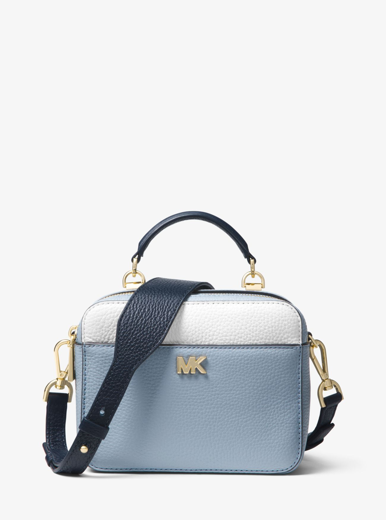 783af336e0ab Mott Mini Color-Block Pebbled Leather Crossbody. Mott Mini Color-Block  Pebbled Leather Crossbody Michael Kors Bag