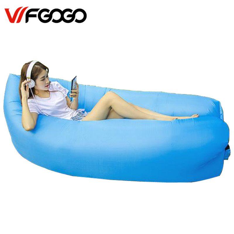 Wfgogo Lazy Bag Fast Inflatable Sofa Outdoor Air Sofa Sleeping Bag Couch Portable Furniture Living Roo Inflatable Sofa Inflatable Sofa Bed Outdoor Sleeping Bag