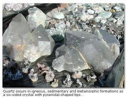 Quartz crystals near Nathrop, six miles south of Buena Vista