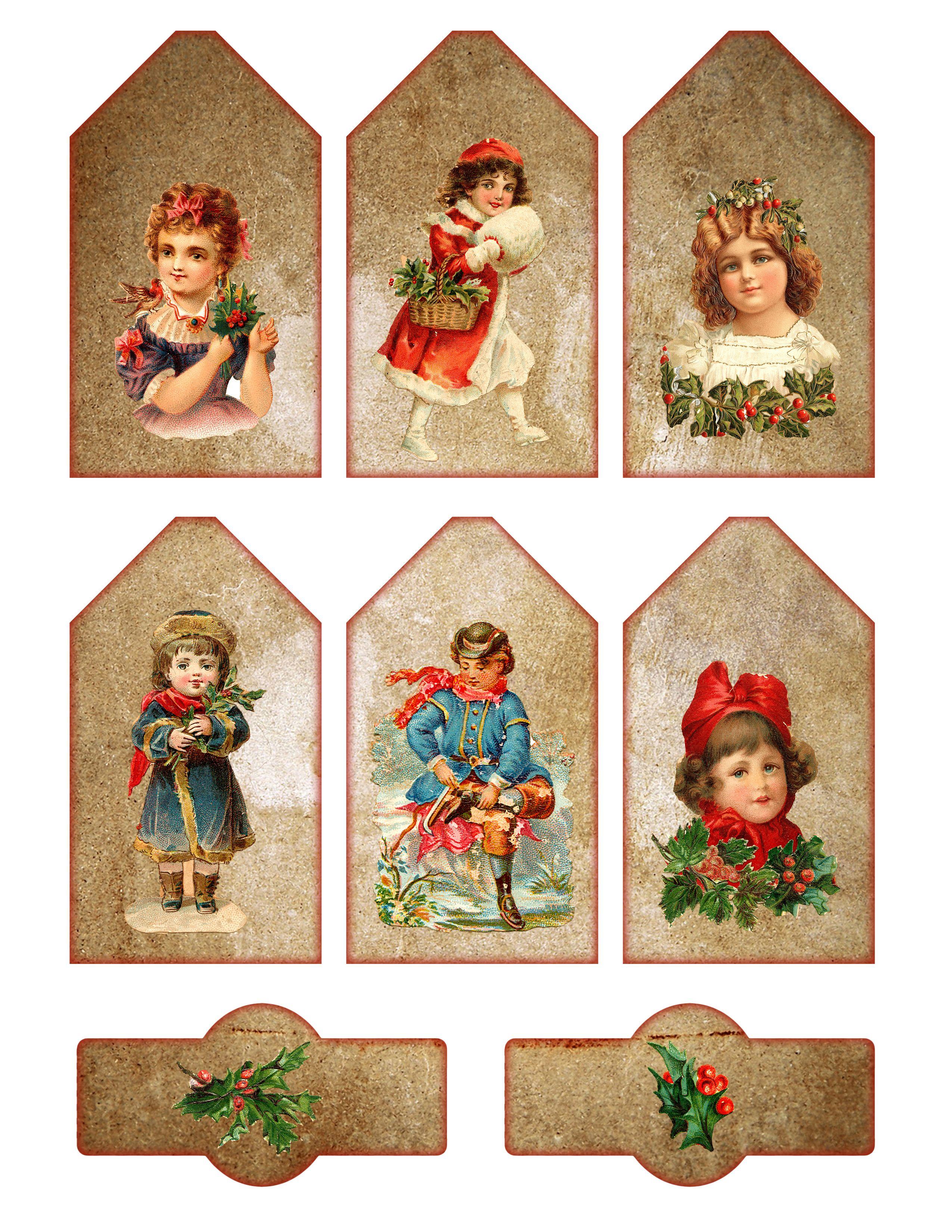 Free vintage printable christmas gift tags