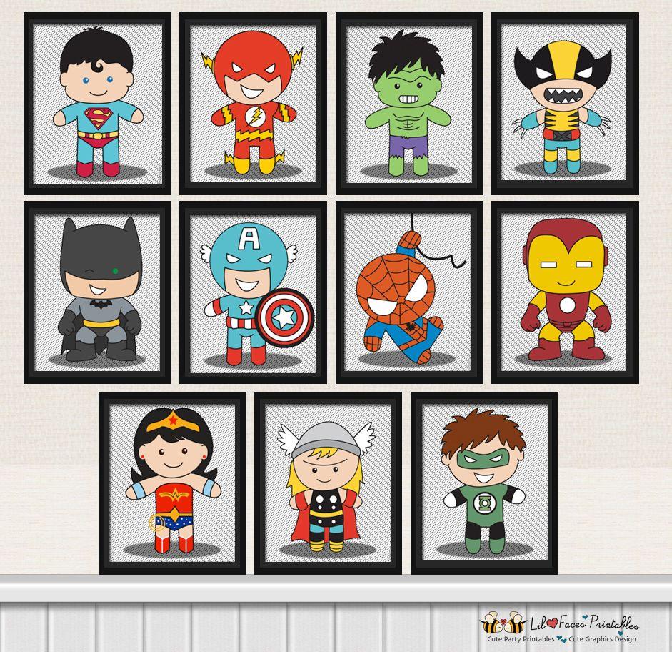 Resultado de imagen de cuadros infantiles superheroes for Dormitorio super heroes