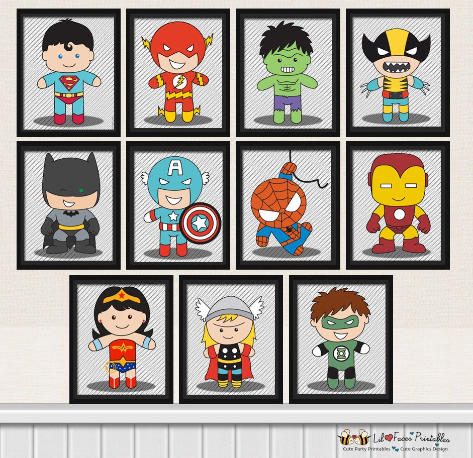 Uncategorized Printable Superheros 11x superhero digital art prints printable pop poster comics nursery