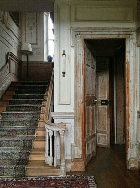 English Georgian Interior With Aged Original Finishes