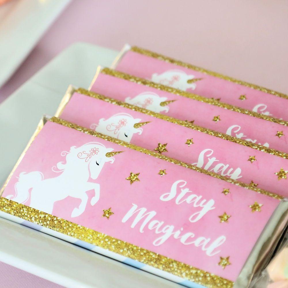 Rainbow Unicorn - Personalized Candy Bar Wrapper Magical Unicorn ...