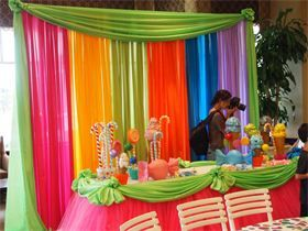 Candyland Backdrop Quince Decor In 2019 Candy Theme