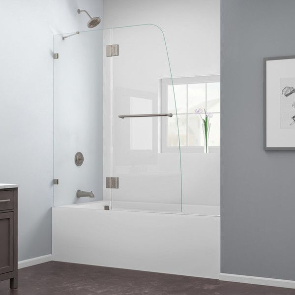 Aqua Lux 48 X 58 Hinged Frameless Tub Door Shower Tub Tubs And