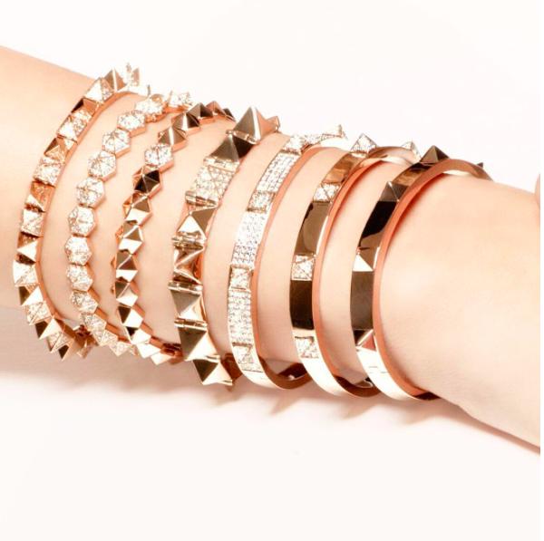 269155cc1 Six-sided spike bracelet with one diamond spike | aRM cANDY ...