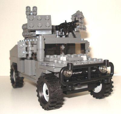Lego Custom Modern Military Humvee Hummer W Heavy Machine Gun Armor