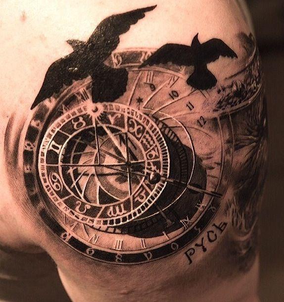 Astronomical Clock Tattoo: Astrological Clock, Amazing Work!
