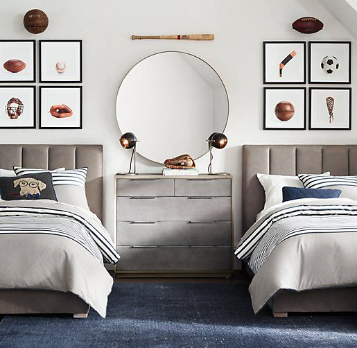 I Like The Way They Mounted The Balls Above The Sports Wall Art. |  Jacksonu0027s Room (Ideas/Inspiration, Anyway!) | Pinterest | Walls, Rh Baby  And Room