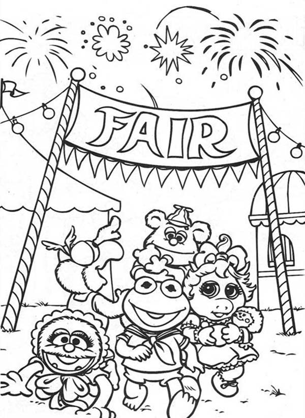 Muppet Babies Fireworks At Annual Baby Fair Coloring Pages Bulk Color