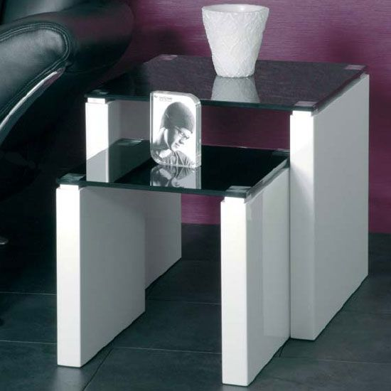 High Gloss Nest Of Tables Nesting Tablack Glhigh