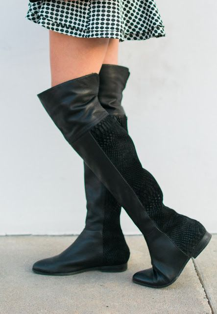 black seychelles OTK boots