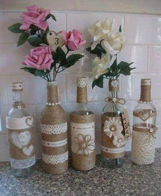 13 Ideas Mas Creativas Para Decorar Botellas Y Frascos De Vidrio Wine Bottle Crafts Wine Bottle Diy Crafts Bottle Crafts