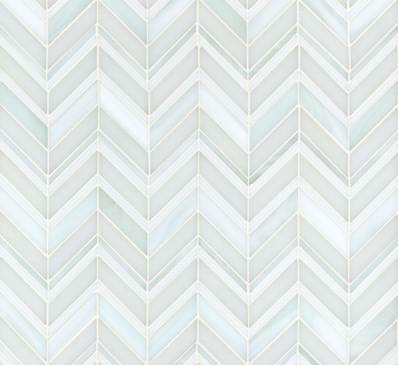 Swingin Chevron Be Bop White Artistic Tile Backsplash Tile Design White Glass Tile