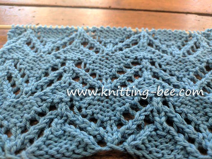 Zig Zag Eyelet Free Knitting Stitch Knitting Pinterest