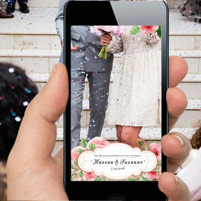 cute snapchat filter for your wedding