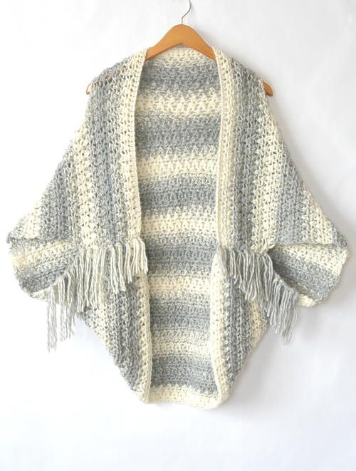 Easy Light Frost Crochet Blanket Sweater Shrug | Crochet bufanda y Ropa